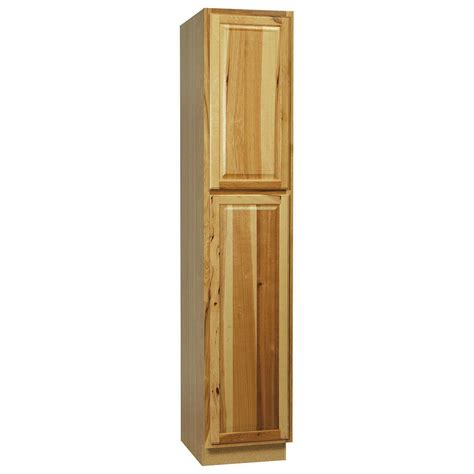 home depot hickory cabinets hton bay 18x90x24 in hton pantry cabinet in
