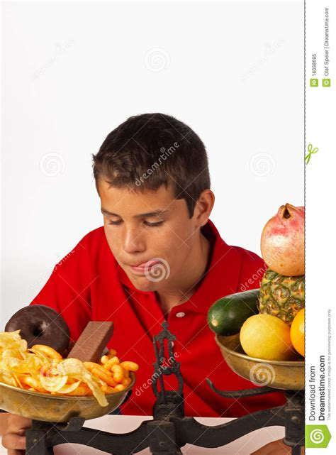 Resisting The Food Temptation by Junk Food Temptation Royalty Free Stock Photo Image