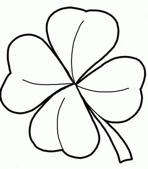coloring pages of four leaf clover four leaf clover template coloring home