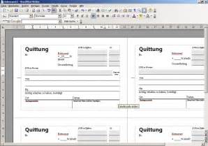 Word 2010 Vorlage Quittung Quittung Vorlage