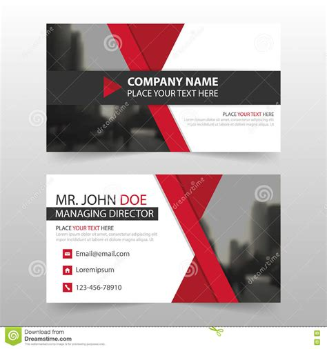 Business Card Template With Ladybug by Horizontal Illustrations Vector Stock Images