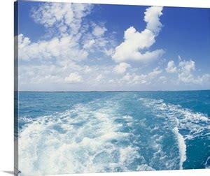 boat canvas florida keys atlantic ocean and boat wake florida keys fl photo canvas
