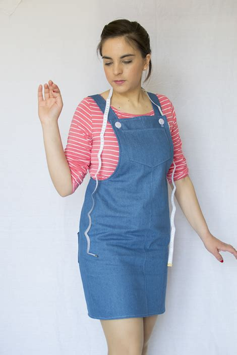 Dress Denim Cleo denim cleo pinafore dress by tilly and the buttons