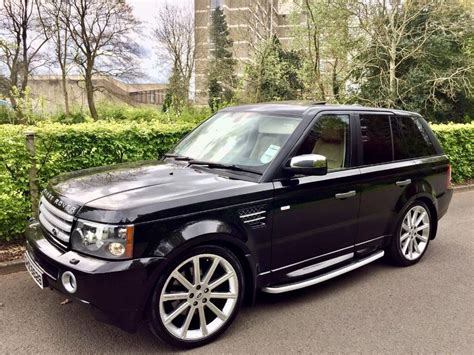 land rover 2007 black 2007 range rover hse sport great extras sunroof in