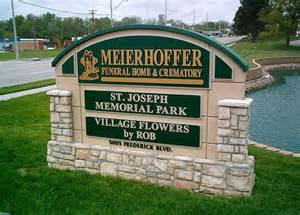 meierhoffer funeral home meierhoffer funeral home custom sign monument with faux