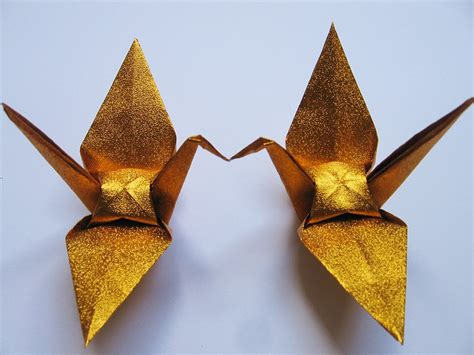 Gold Origami - 1000 large shiny gold origami cranes for wedding