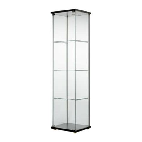 Glass Door Cabinet Ikea Detolf Glass Door Cabinet Black Brown Ikea