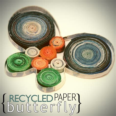 recycled magazine paper crafts how to make a butterfly from magazine pages