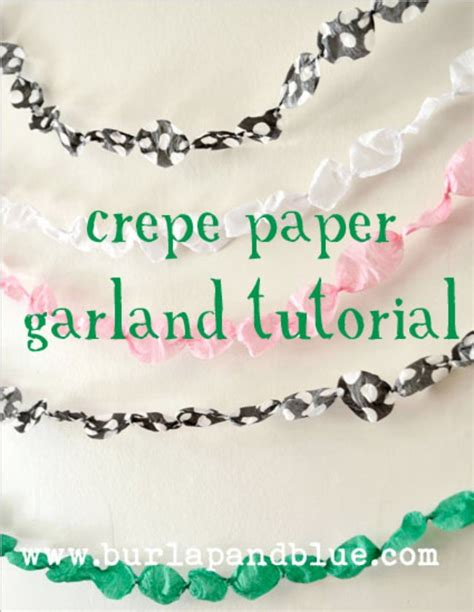 How To Make Crepe Paper Garland - 42 easy ways to decorate w o a theme tip junkie