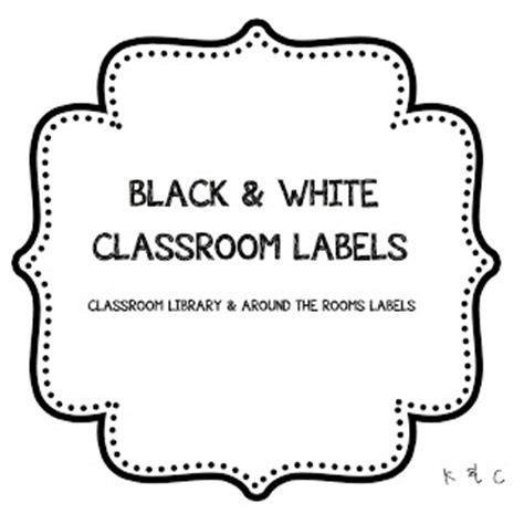 black and white label templates k c grade 3