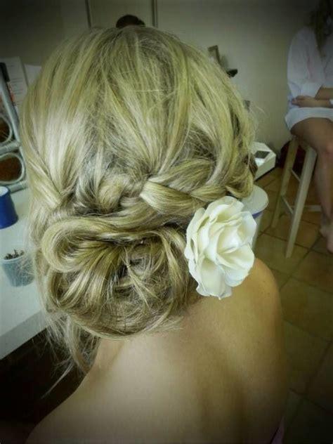 Wedding Hair Side Bun With Flower by Wedding Hair Side Bun With Braid My Wedding