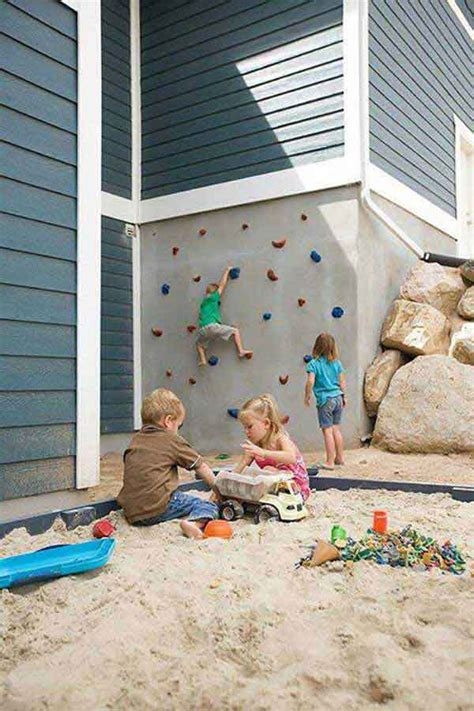 backyard rock climbing wall 35 creative diy ways of how to make backyard more funny