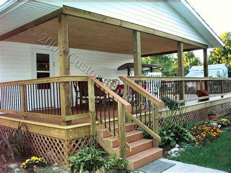 covered porch plans mobile home porch design studio design gallery
