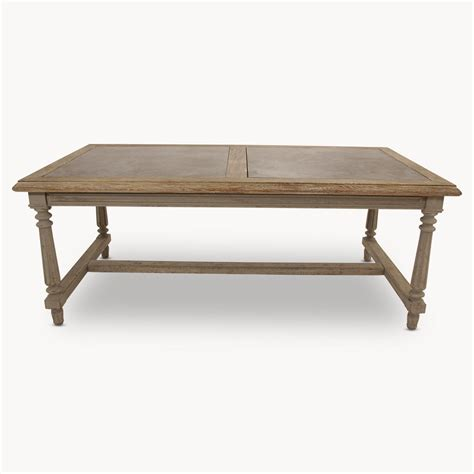 Granite Inlay Dining Table Distressed Dining Table With Inlay Furniture La Maison Chic Luxury Interiors