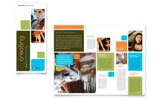 Education Brochure Templates by Arts Council Education Brochure Template Word Publisher