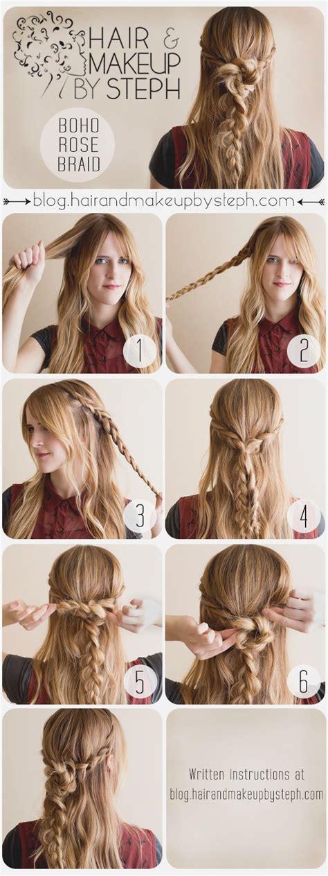 hair tutorial braids pinterest tutorials hair style pretty boho style braids tutorials pretty designs