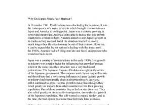 Attack Essay by Why Did Japan Attack Pearl Harbour In December 1941 Pearl Harbour Was Attacked By The