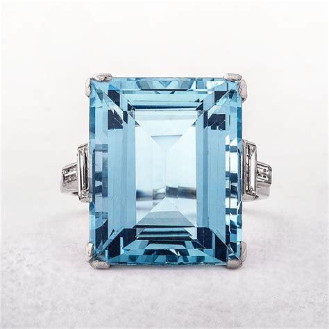 Dress Aquamarine vintage platinum aquamarine dress ring