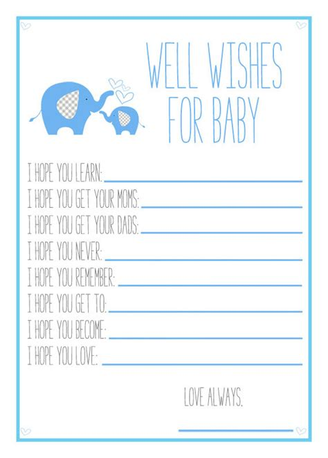 wishes for baby printable template 5 best images of free printable wishes for baby boy