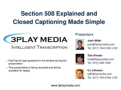 section 508 law section 508 laws explained and closed captioning made simple