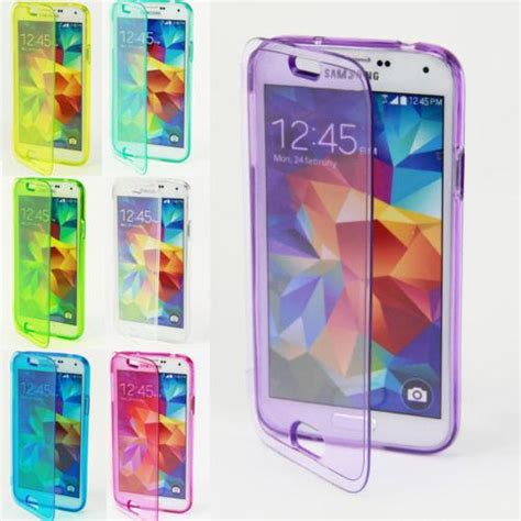 Samsung S6 Flip Transparan Touch Screen transparent tpu silicone clear flip cover touch