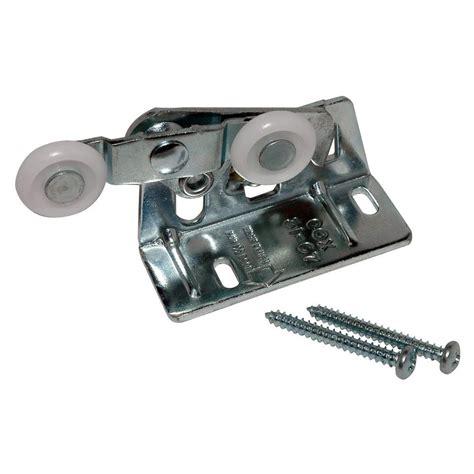 on bearing pocket door roller and bracket