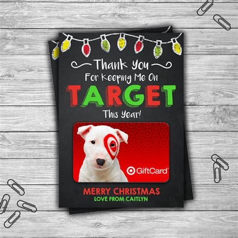 christmas gifts for teachers from principal printable personalized gift card holder target end