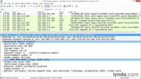 wireshark tutorial lynda dissecting the tcp three way handshake