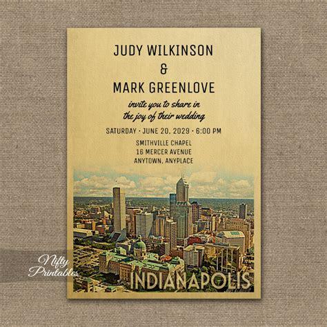 Wedding Invitations Indianapolis Indiana indianapolis indiana wedding invitation printed nifty