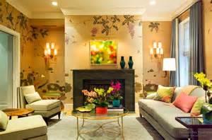 design house skyline yellow motif wallpaper обои в интерьере современной гостиной модные идеи
