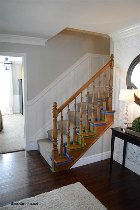 how to stain banister how to stain an oak banister the idea room