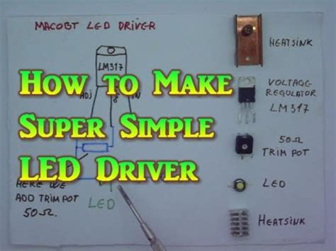 build your own high power led grow light how to make super simple led driver or laser driver youtube