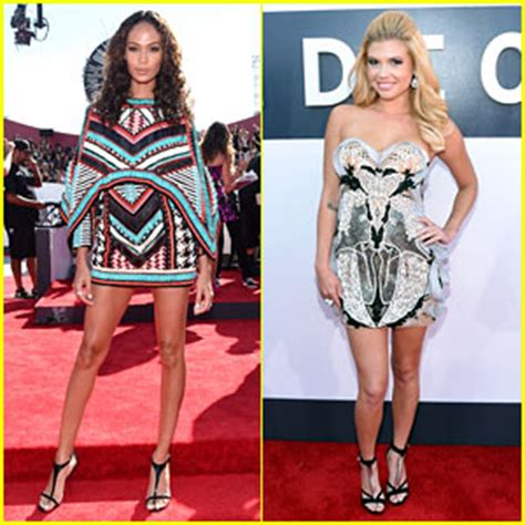Joan Smalls & Chanel West Coast Keep it Short at VMAs 2014