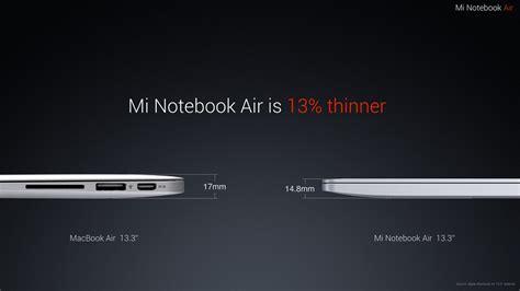 Xiaomi Macbook Air xiaomi mi notebook air release date price and specs new