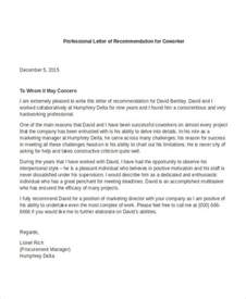 professor letter of recommendation template 12 professional letter of recommendation free pdf word