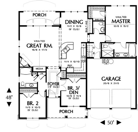 Houses With Floor Plans Hollis 2432 3 Bedrooms And 2 Baths The House Designers