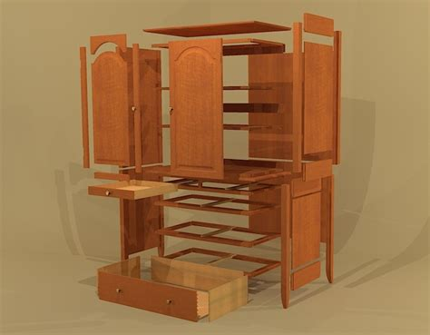 wardrobe cabinet plans creekside woodshop sketchup drawings