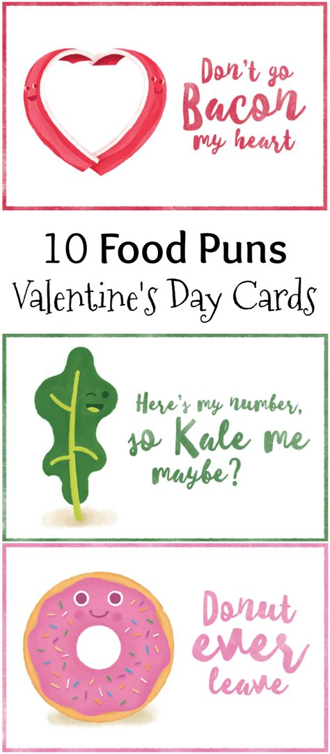 valentines day puns 10 food pun s day cards free printables