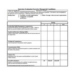 candidate evaluation template evaluation form 14 free documents in