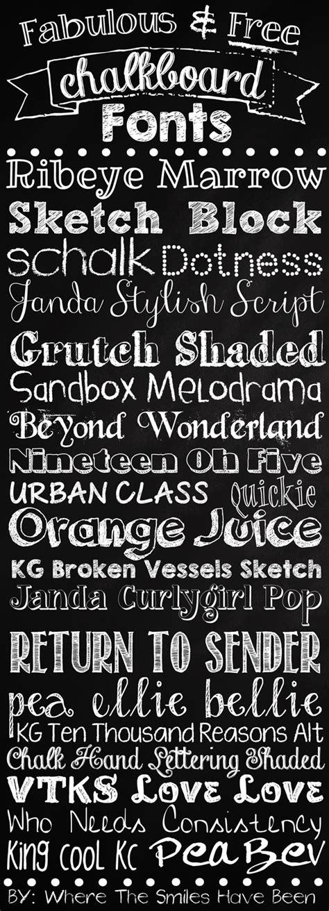 fabulous  chalkboard fonts