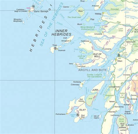 hebrides map hebrides
