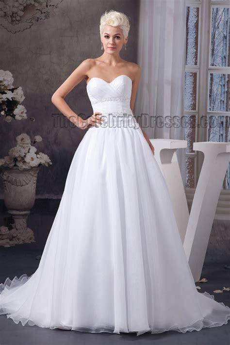 simple   sweetheart strapless beaded wedding dresses