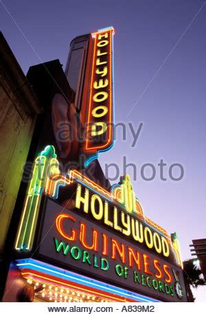 Los Angeles County Free Records The Guinness Museum Of World Records On The Walk Of Fame On Stock Photo