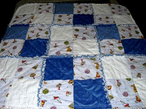 Baby Rag Quilts For Beginners by Up The Rainbow Creek Baby Rag Quilt