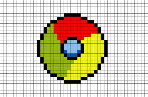 chrome logo pixel art brik