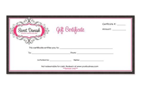 company gift certificate template gift certificate templates business