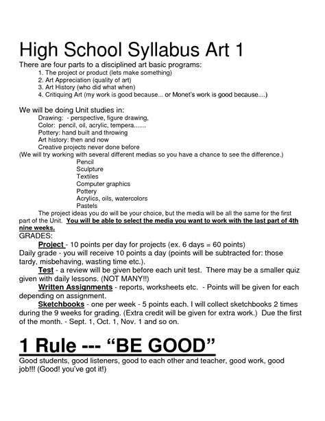 high school syllabus template 10 best images of high school syllabus format high