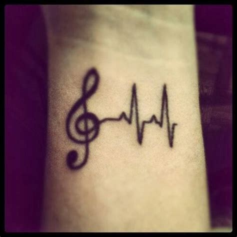 treble clef w heartbeat monitor tattoo music tattoos