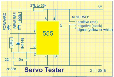 555 servo tester with remote 555 rc remote