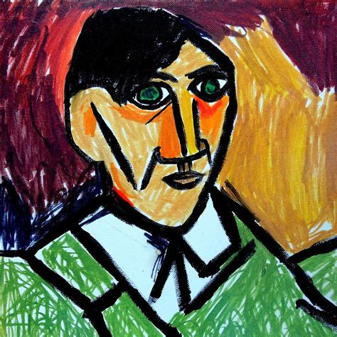 picasso paintings self portrait pablo picasso self portrait 1907 remake painting by paulo